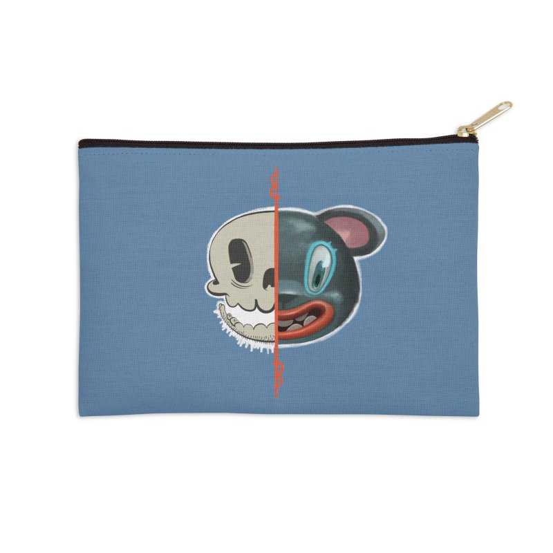 Half skull Accessories Zip Pouch by fake smile