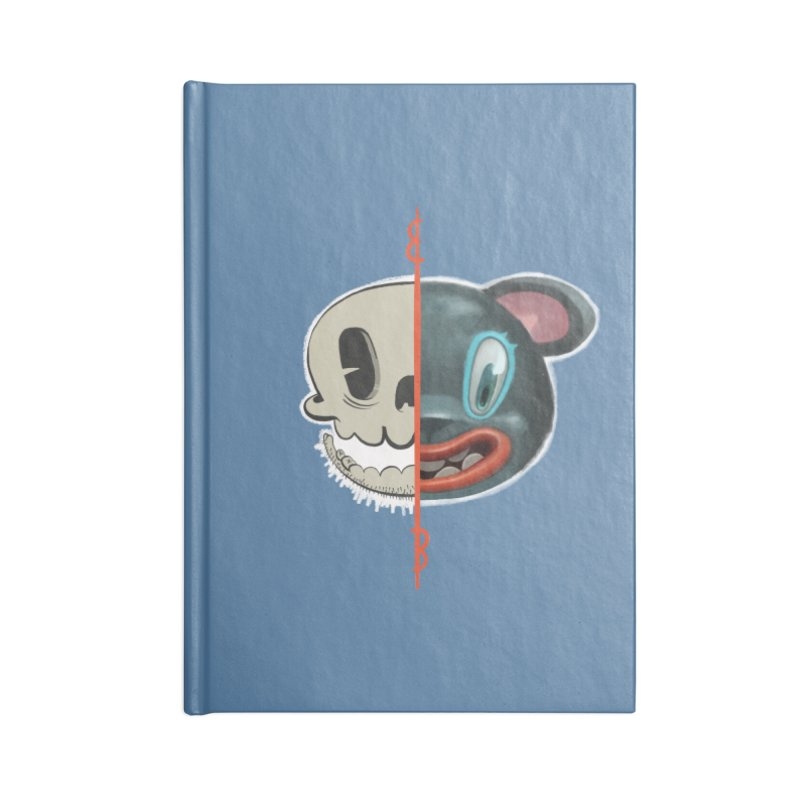 Half skull Accessories Blank Journal Notebook by fake smile