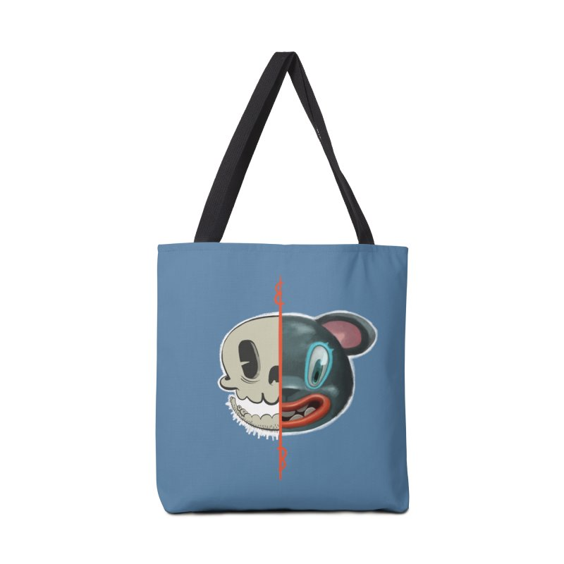 Half skull Accessories Bag by fake smile