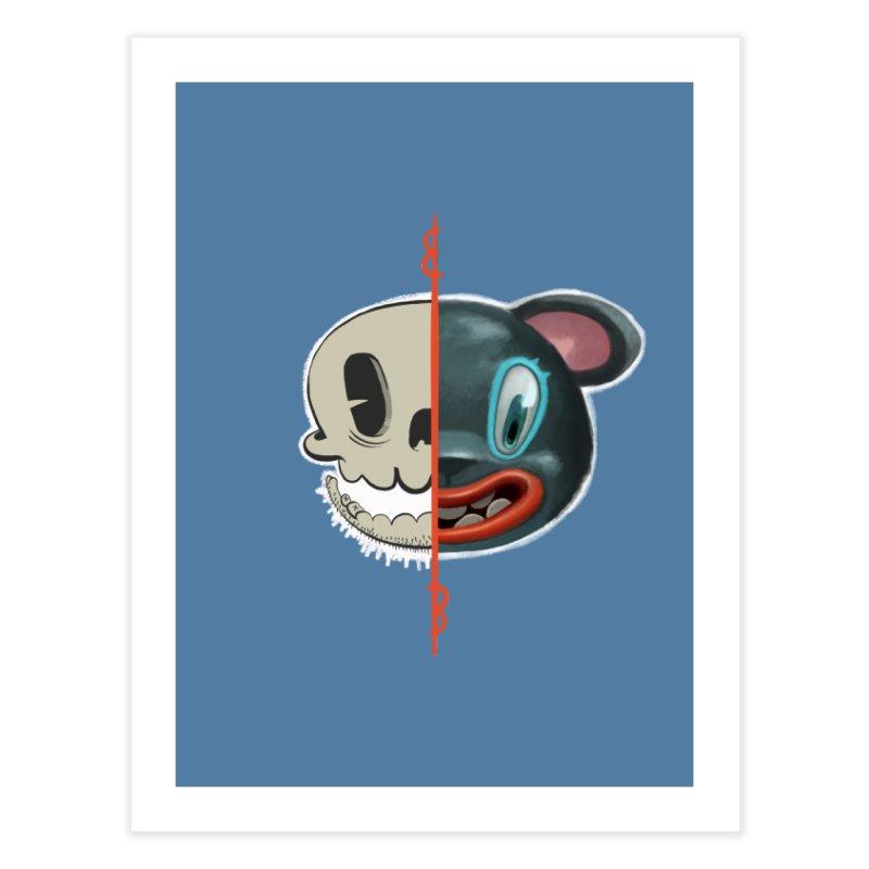 Half skull Home Fine Art Print by fake smile