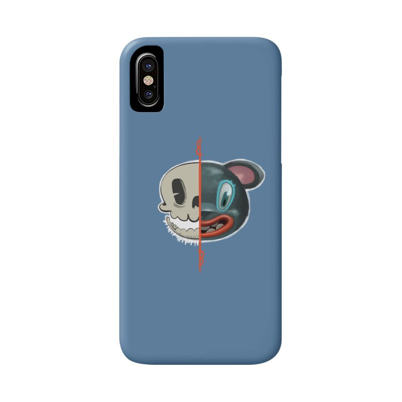 Half skull Accessories Phone Case by fake smile