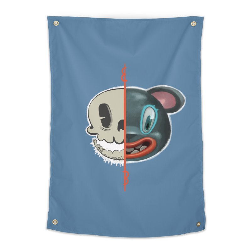 Half skull Home Tapestry by fake smile