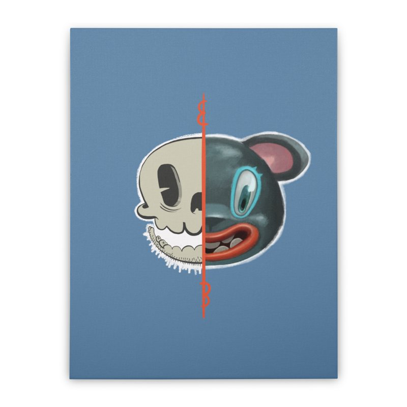 Half skull Home Stretched Canvas by fake smile