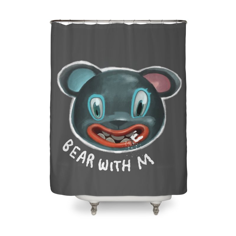 Bear with m Home Shower Curtain by fake smile