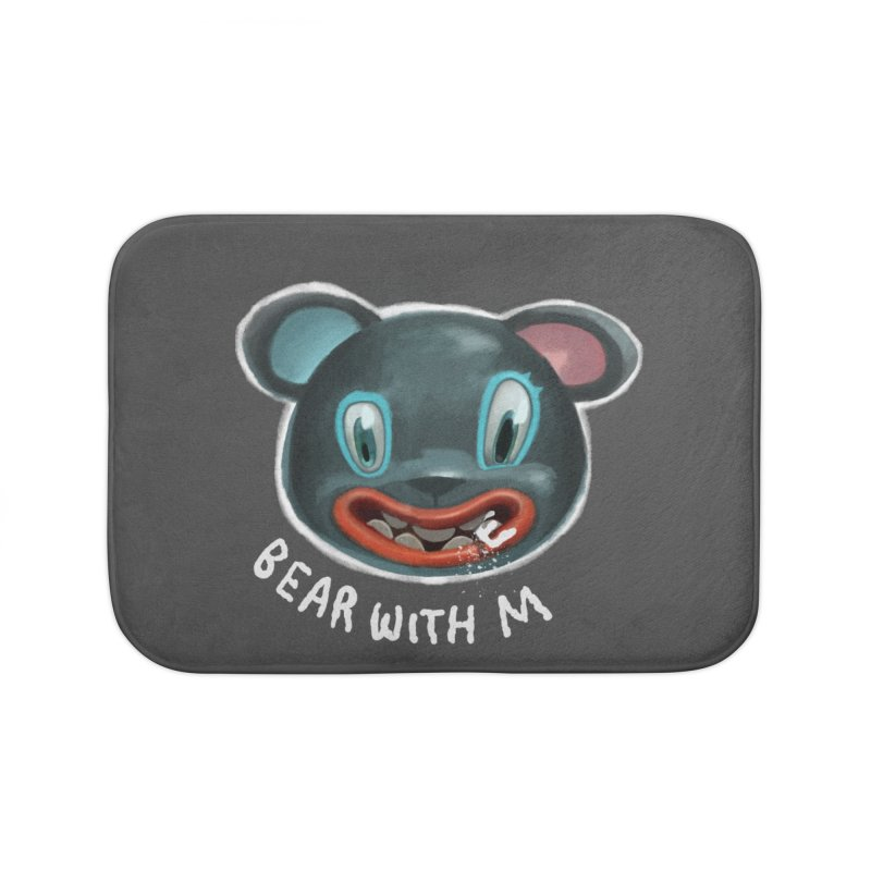 Bear with m Home Bath Mat by fake smile
