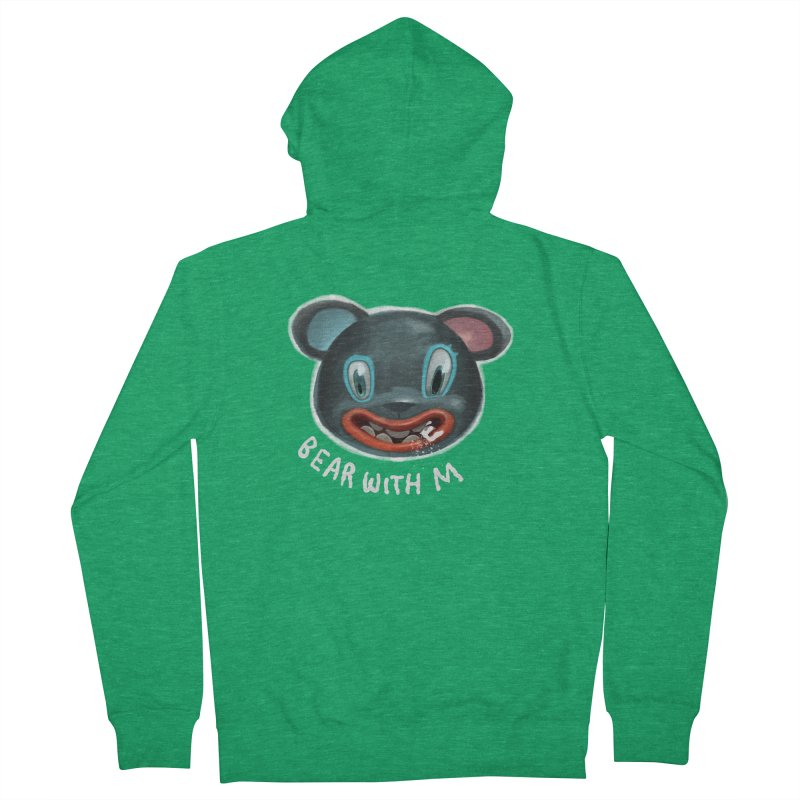 Bear with m Men's Zip-Up Hoody by fake smile
