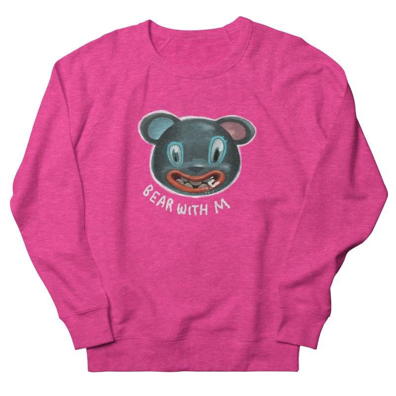 Bear with m Men's French Terry Sweatshirt by fake smile