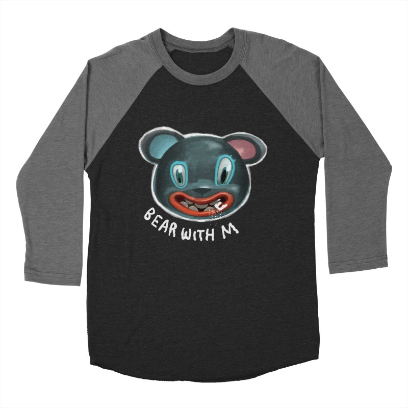 Bear with m Women's Baseball Triblend T-Shirt by fake smile