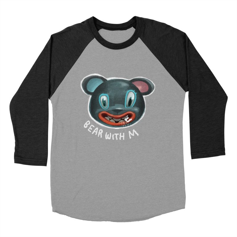 Bear with m Men's Baseball Triblend T-Shirt by fake smile