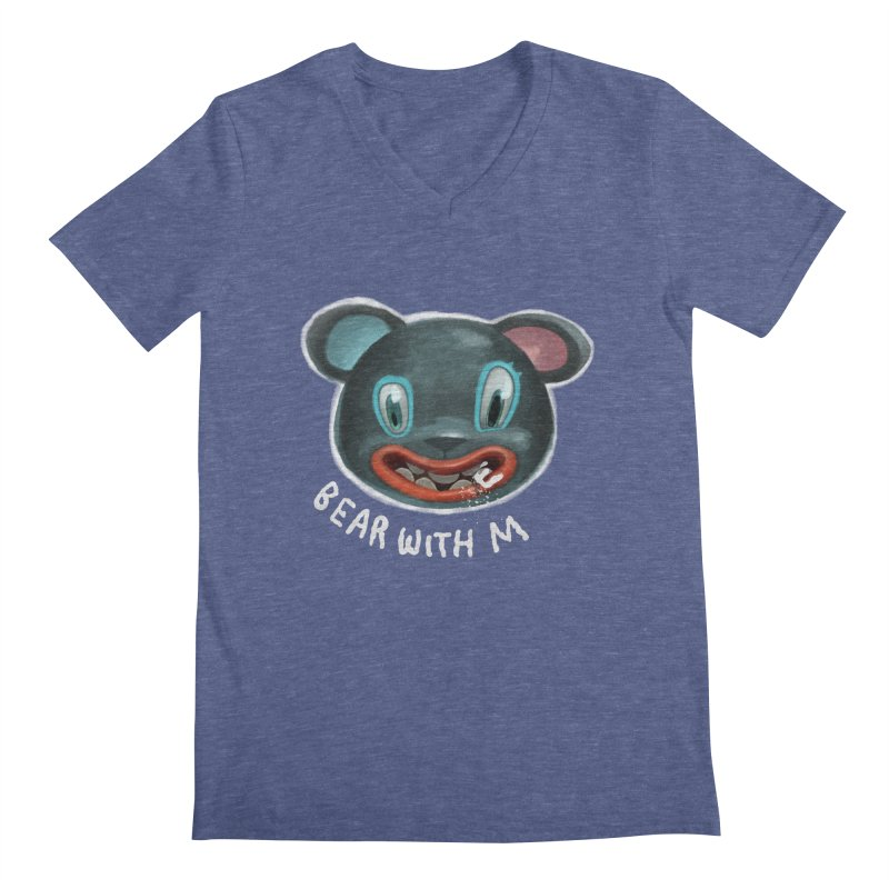 Bear with m Men's V-Neck by fake smile