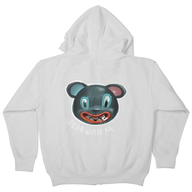Bear with m Kids Zip-Up Hoody by fake smile