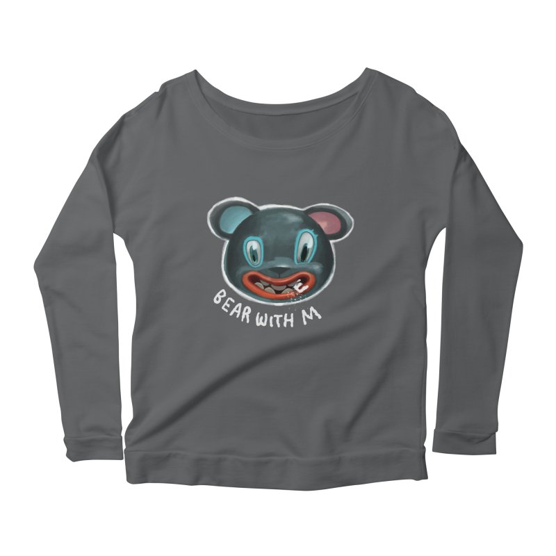 Bear with m Women's Scoop Neck Longsleeve T-Shirt by fake smile