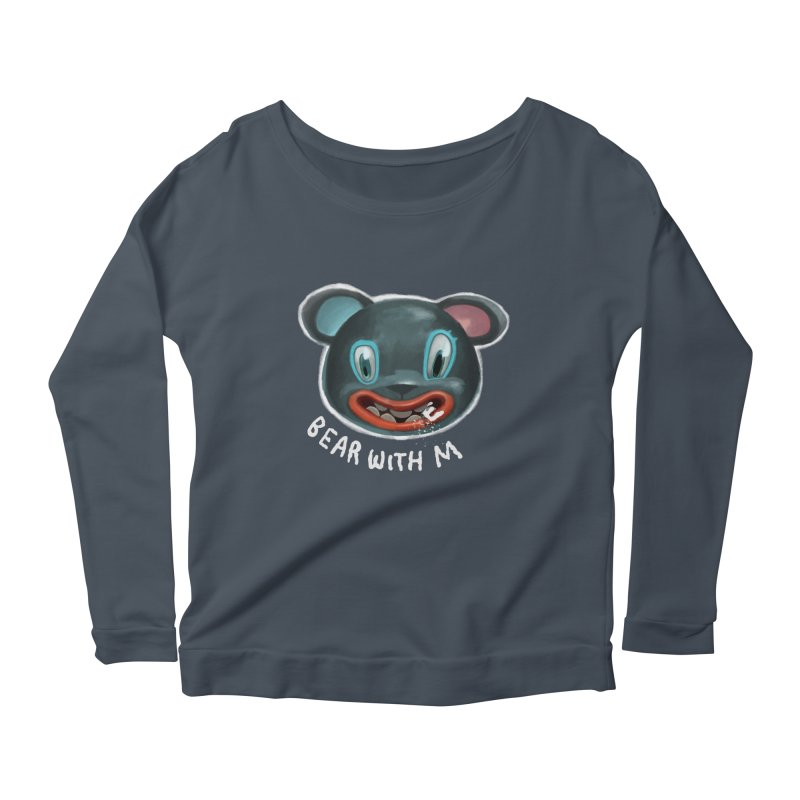 Bear with m Women's Longsleeve Scoopneck  by fake smile