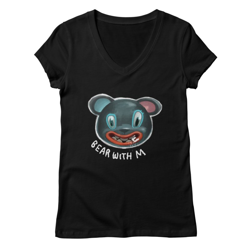 Bear with m Women's V-Neck by fake smile