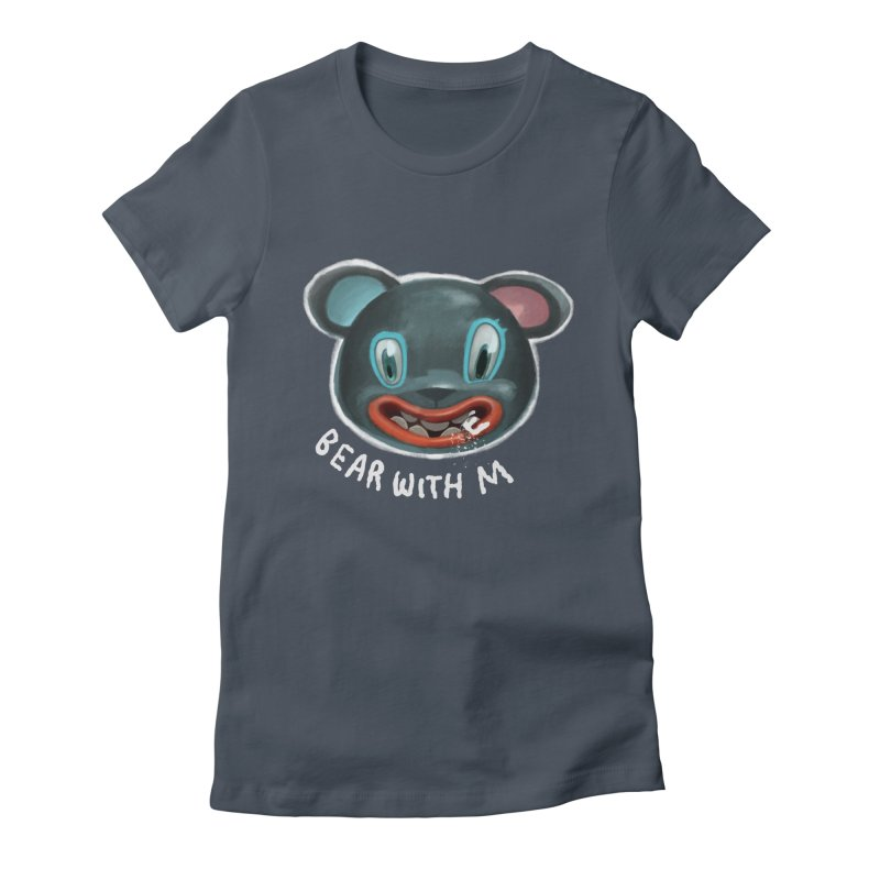 Bear with m in Women's Fitted T-Shirt Denim by fake smile