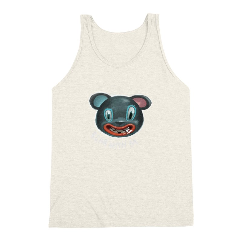 Bear with m Men's Triblend Tank by fake smile