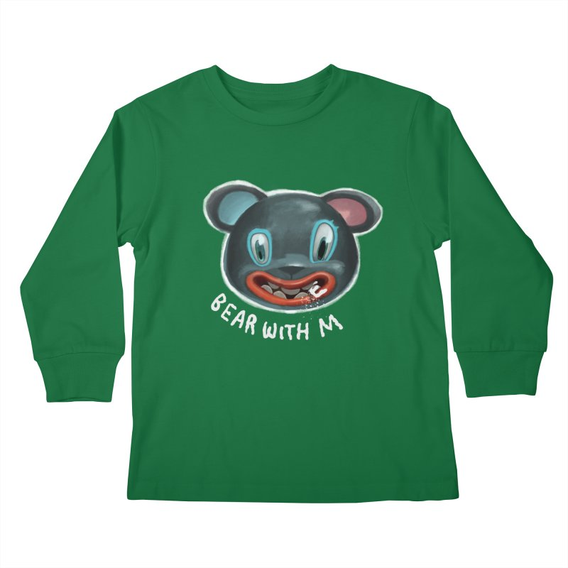 Bear with m Kids Longsleeve T-Shirt by fake smile