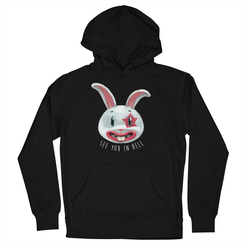 Bunny from hell Men's Pullover Hoody by fake smile