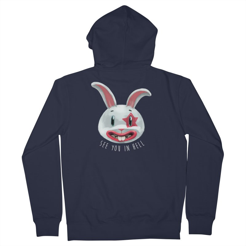 Bunny from hell Women's Zip-Up Hoody by fake smile