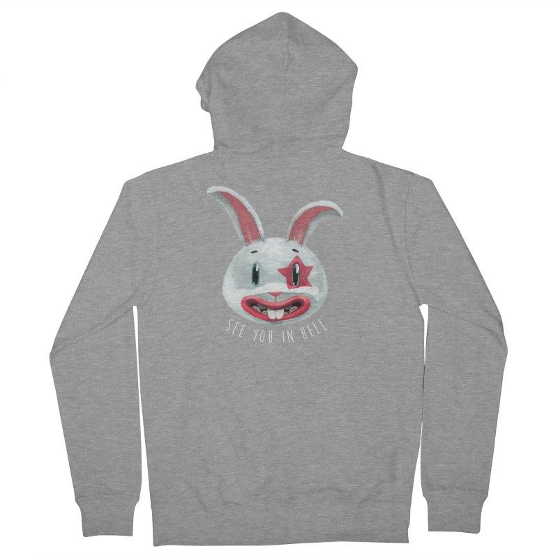 Bunny from hell Men's Zip-Up Hoody by fake smile