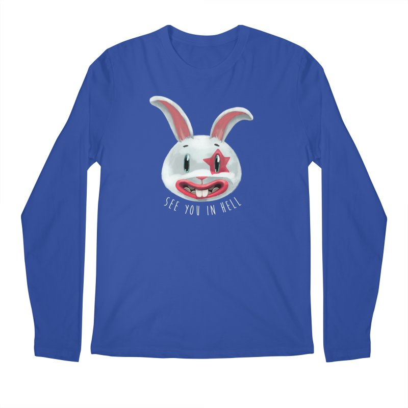 Bunny from hell Men's Regular Longsleeve T-Shirt by fake smile