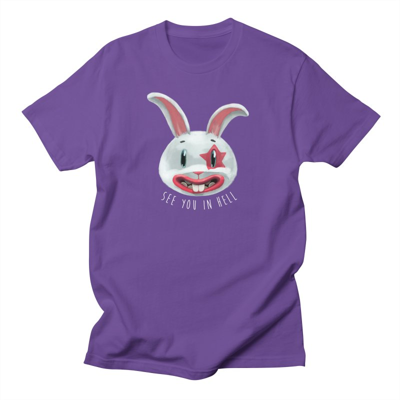 Bunny from hell Women's Regular Unisex T-Shirt by fake smile
