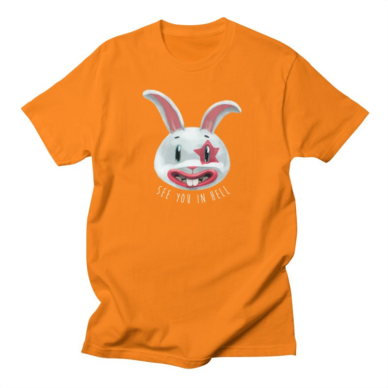 Bunny from hell Men's Regular T-Shirt by fake smile