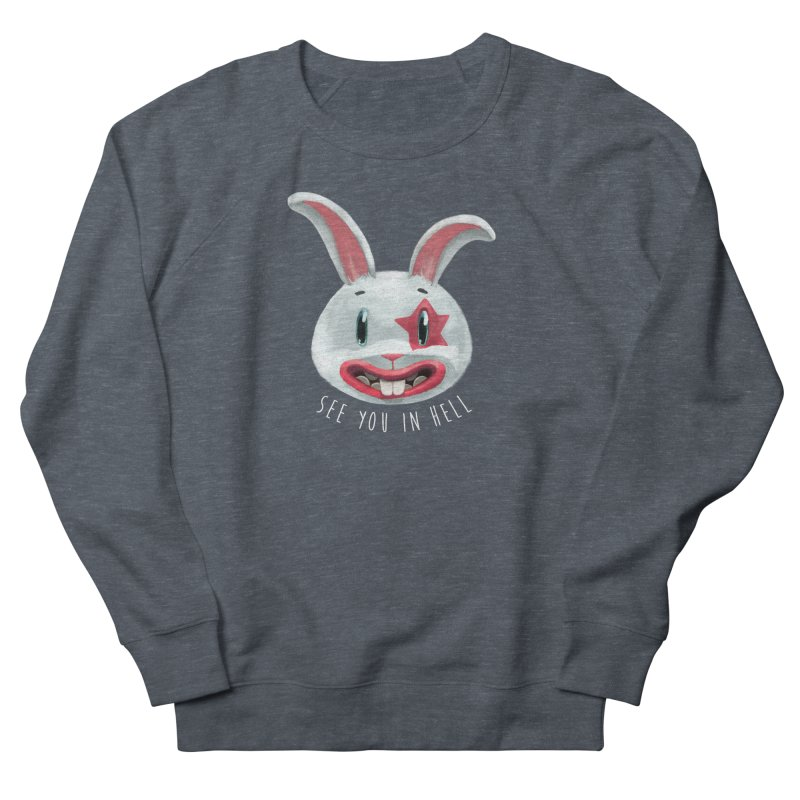 Bunny from hell Women's French Terry Sweatshirt by fake smile