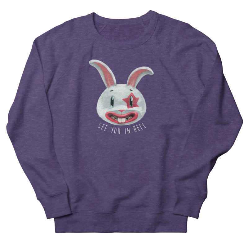 Bunny from hell Men's French Terry Sweatshirt by fake smile