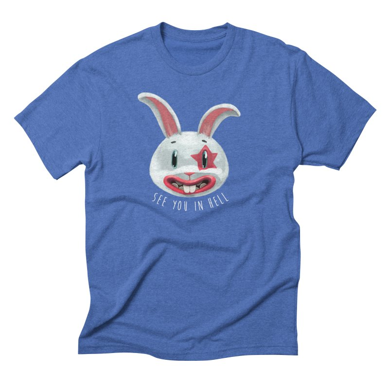 Bunny from hell Men's Triblend T-Shirt by fake smile