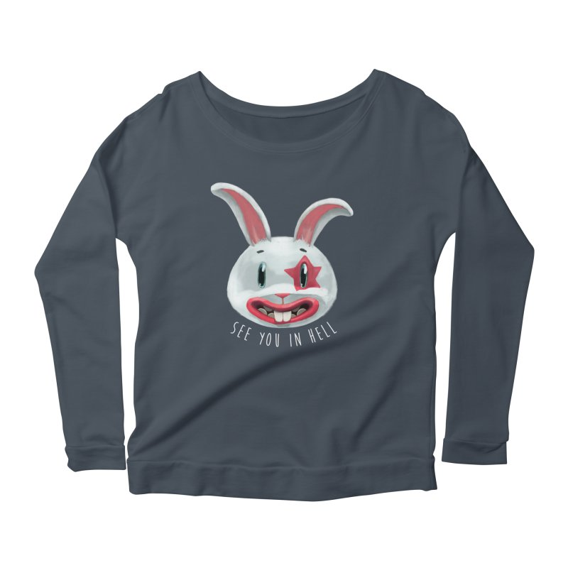 Bunny from hell Women's Longsleeve Scoopneck  by fake smile