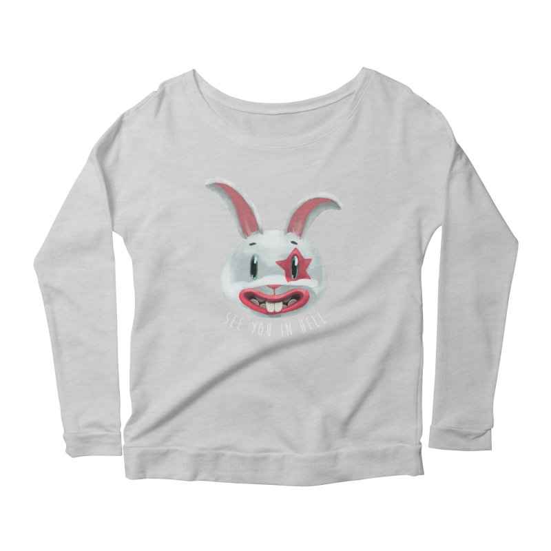 Bunny from hell Women's Scoop Neck Longsleeve T-Shirt by fake smile