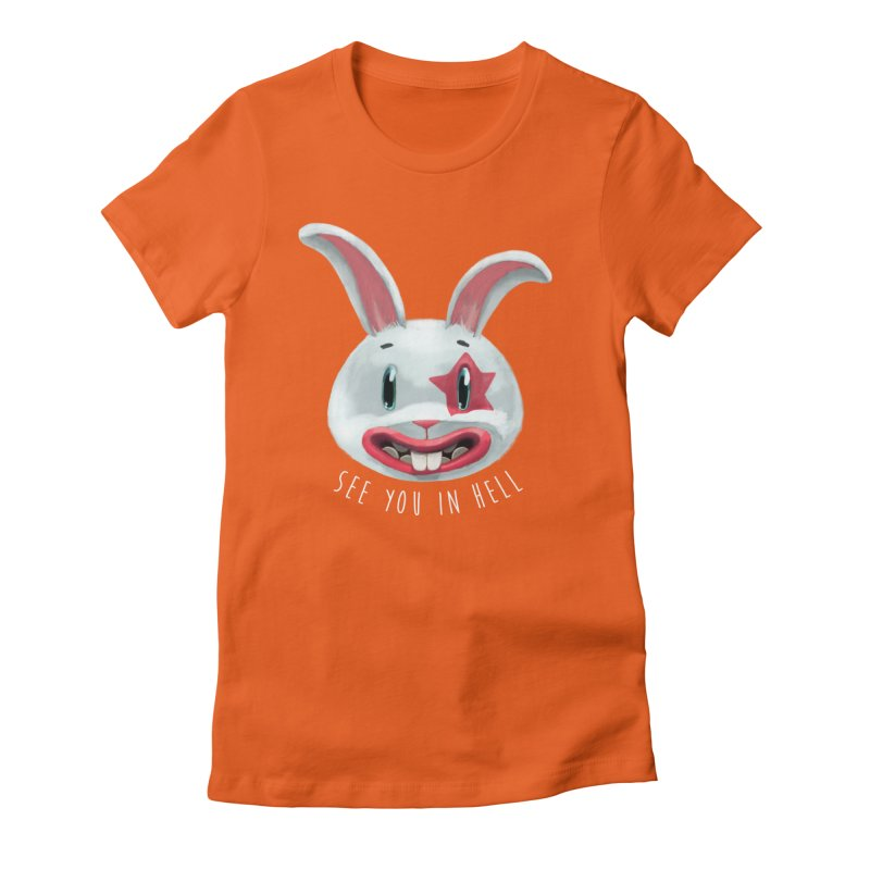 Bunny from hell Women's Fitted T-Shirt by fake smile