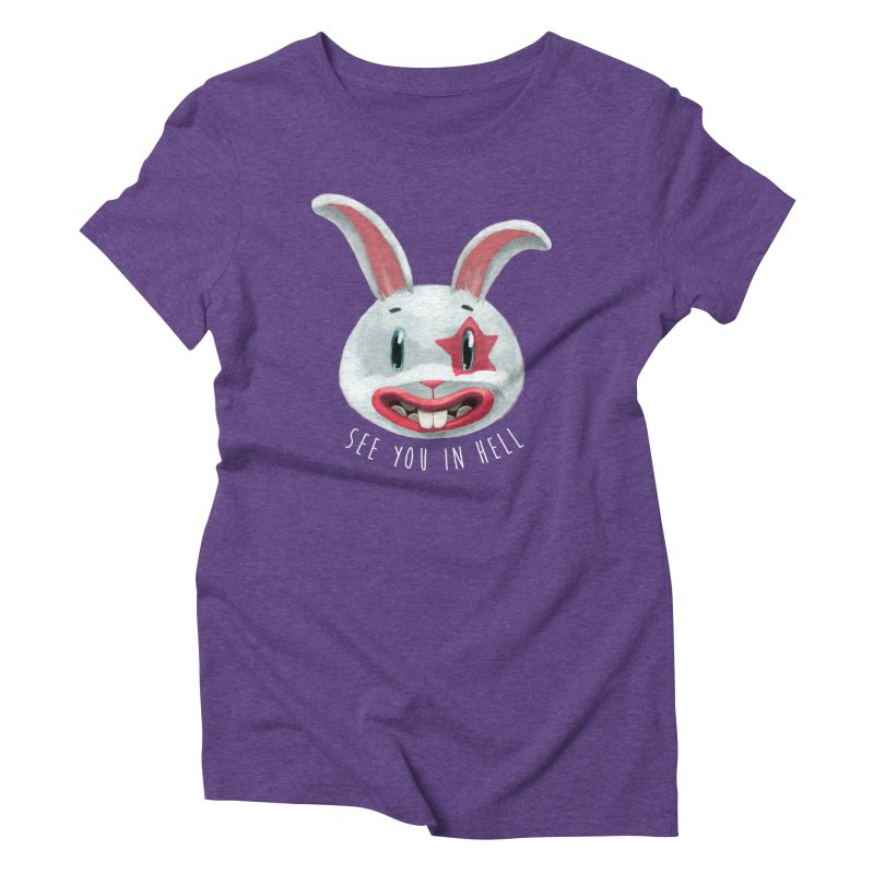 Bunny from hell Women's Triblend T-Shirt by fake smile