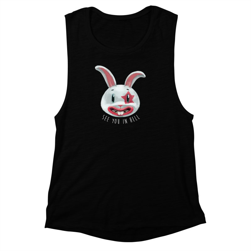 Bunny from hell Women's Muscle Tank by fake smile