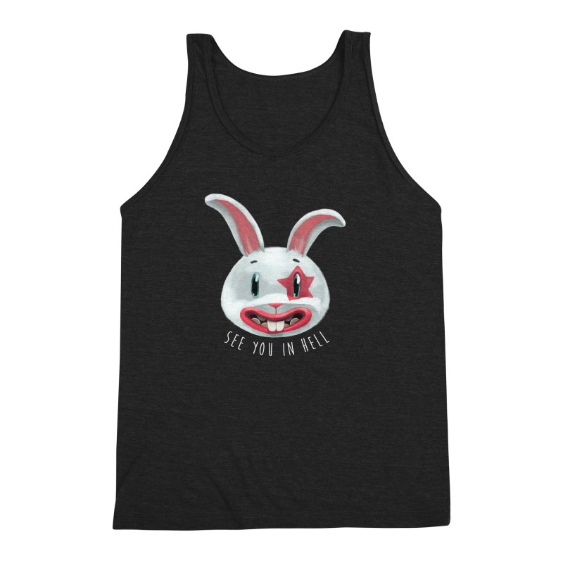 Bunny from hell Men's Triblend Tank by fake smile