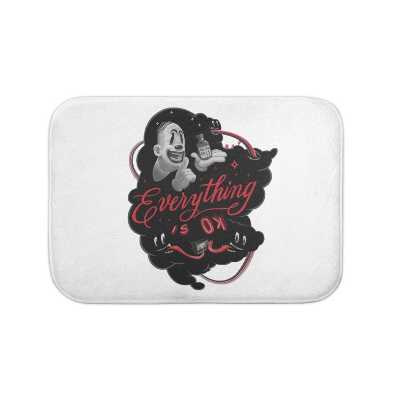 Everything is OK Home Bath Mat by fake smile