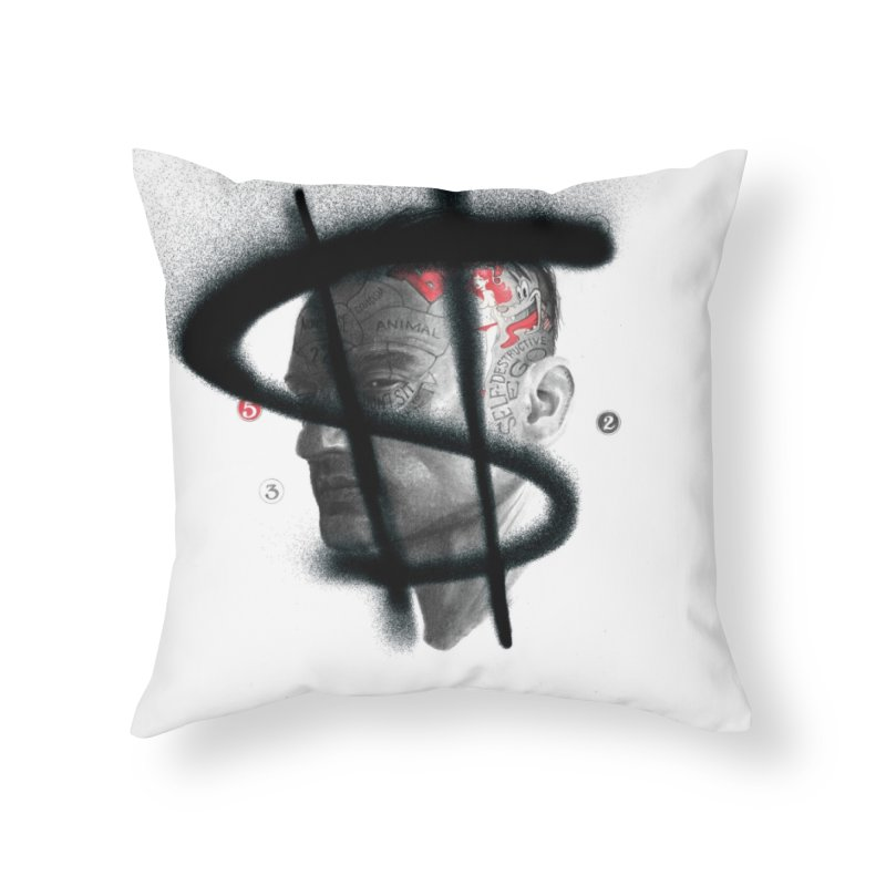 Money Home Throw Pillow by fake smile
