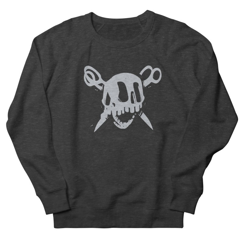 Skull Men's French Terry Sweatshirt by fake smile