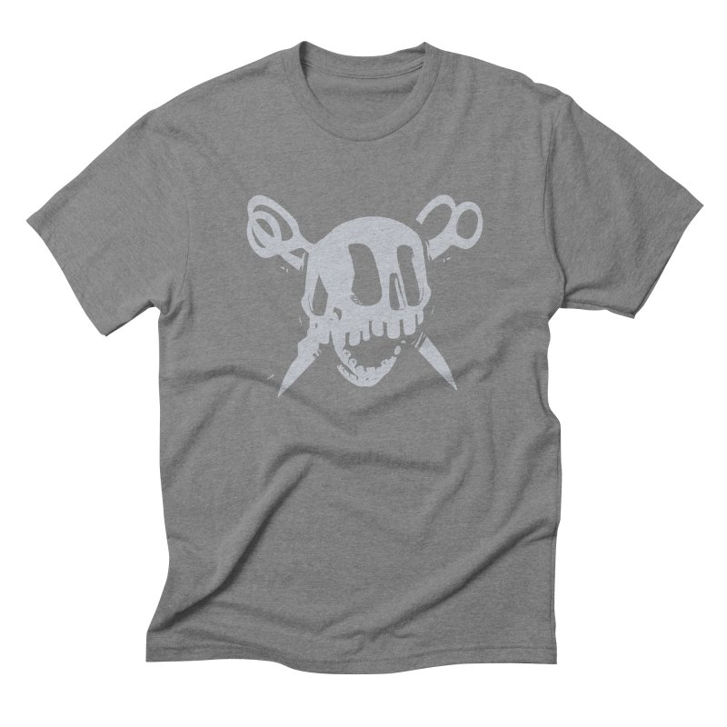 Skull Men's Triblend T-Shirt by fake smile
