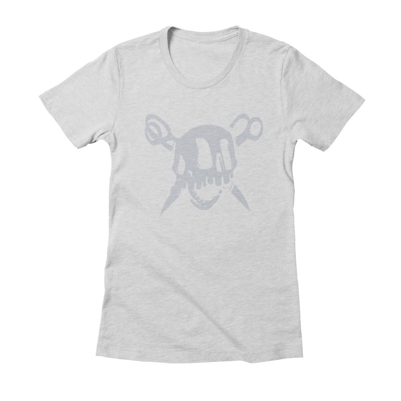 Skull Women's Fitted T-Shirt by fake smile