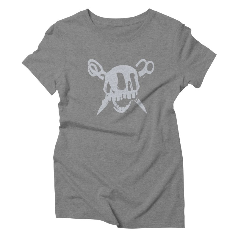 Skull Women's Triblend T-Shirt by fake smile