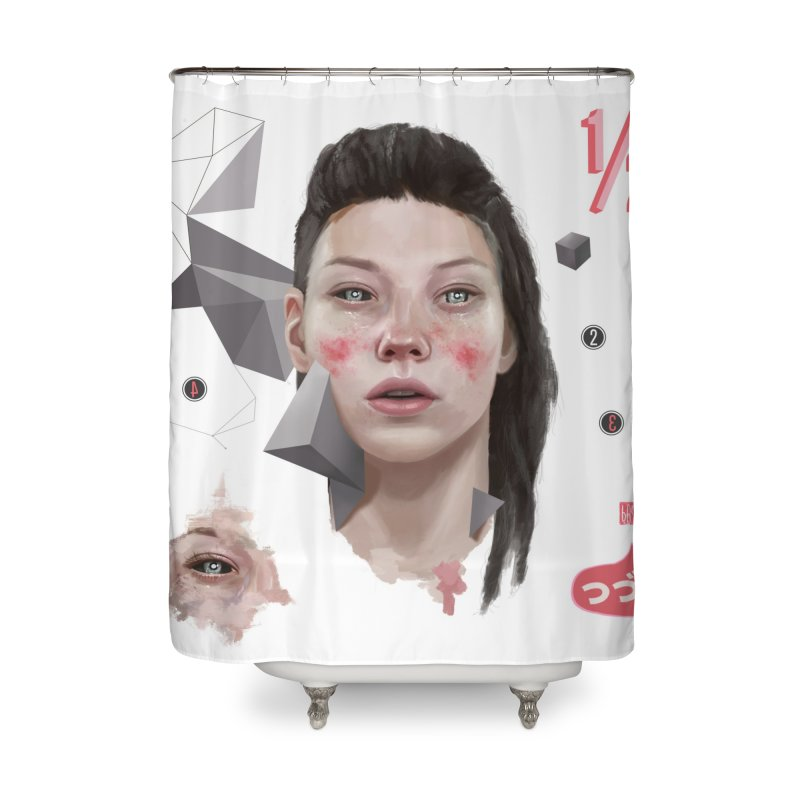 Divided Home Shower Curtain by fake smile