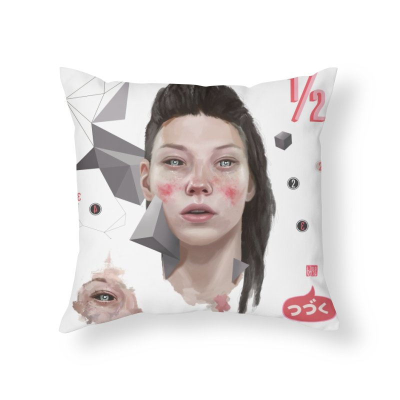 Divided Home Throw Pillow by fake smile