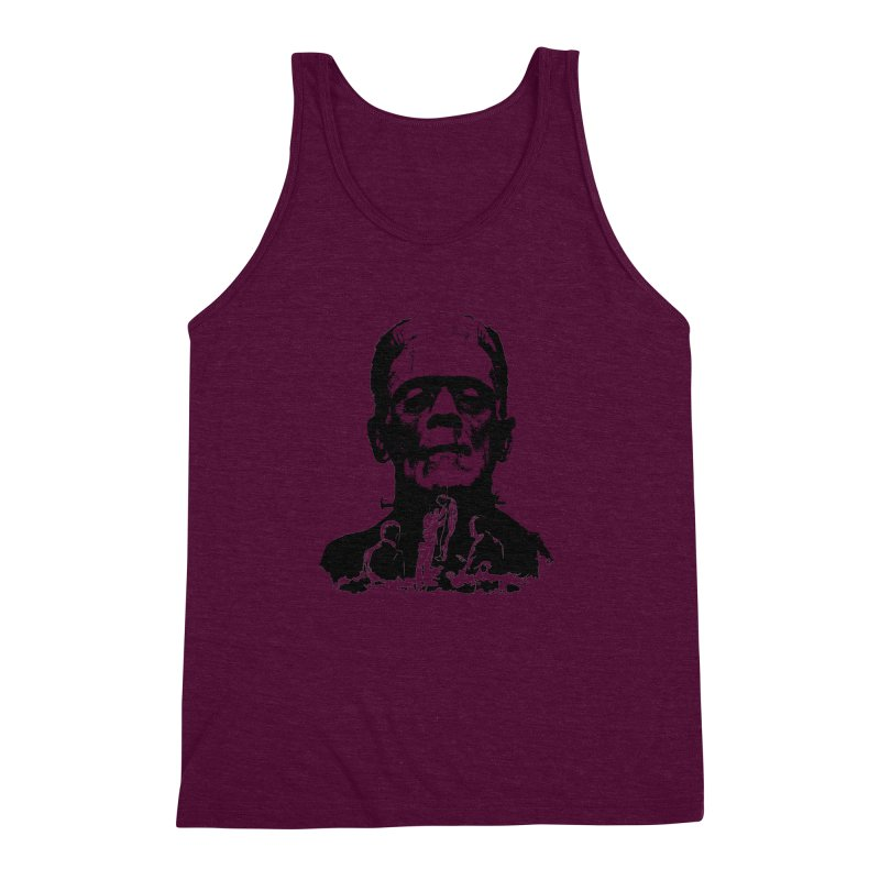 Even Monsters Have Breaking Points Men's Triblend Tank by Bazaar of the Bizzare