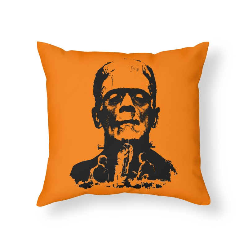 Even Monsters Have Breaking Points Home Throw Pillow by Bazaar of the Bizzare
