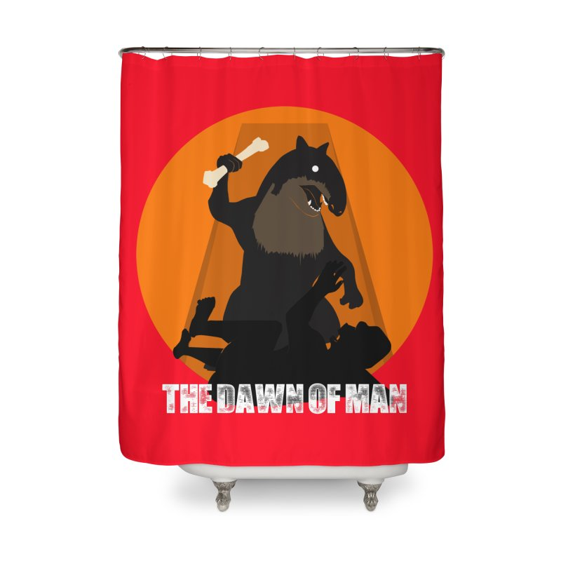 Dawn of Man Home Shower Curtain by Bazaar of the Bizzare