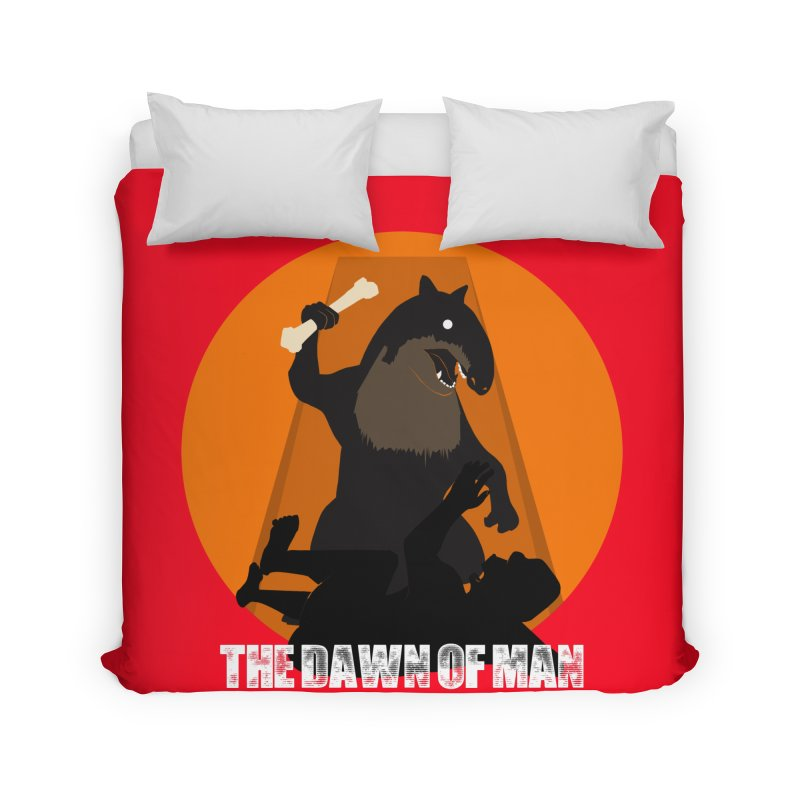 Dawn of Man Home Duvet by Bazaar of the Bizzare