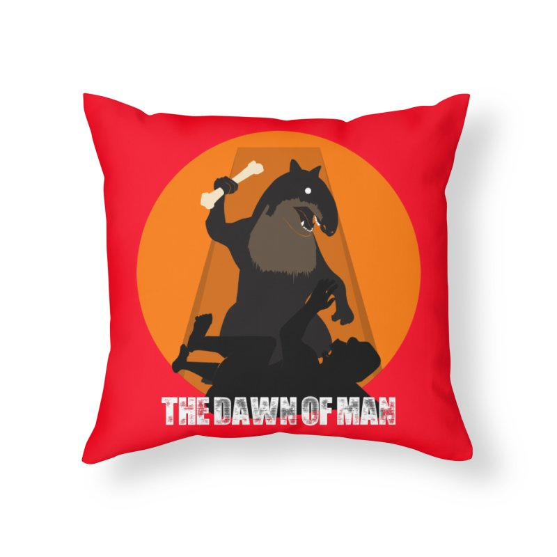 Dawn of Man Home Throw Pillow by Bazaar of the Bizzare