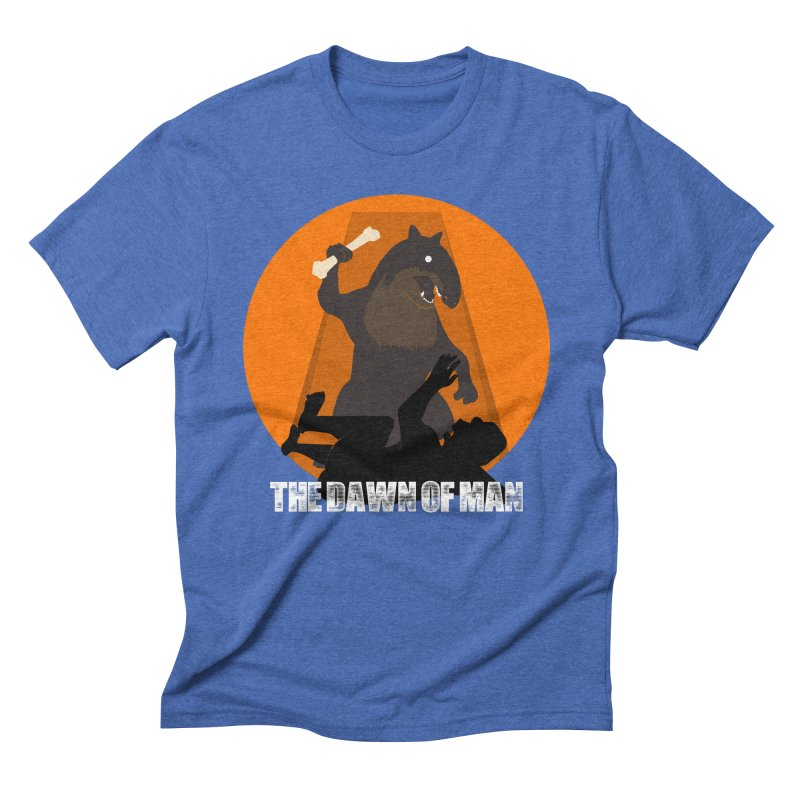 Dawn of Man Men's Triblend T-Shirt by Bazaar of the Bizzare